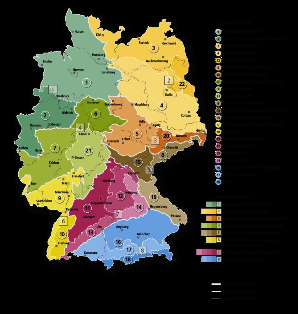 VWW Karte Regiosaat Ursprungsgebiete